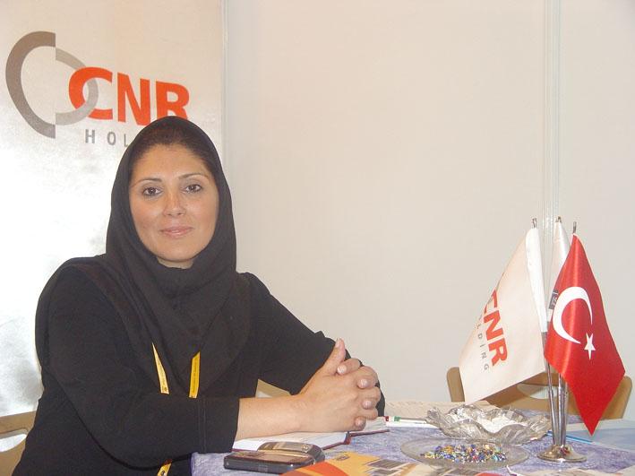مصاحبه اختصاصی مجله کهن با سرکار خانم فرح تقی پور - شرکت نمایشگاهی CNR ترکیه